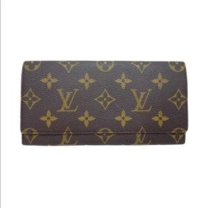 Louis Vuitton Monogram Long Bi Fold Wallet